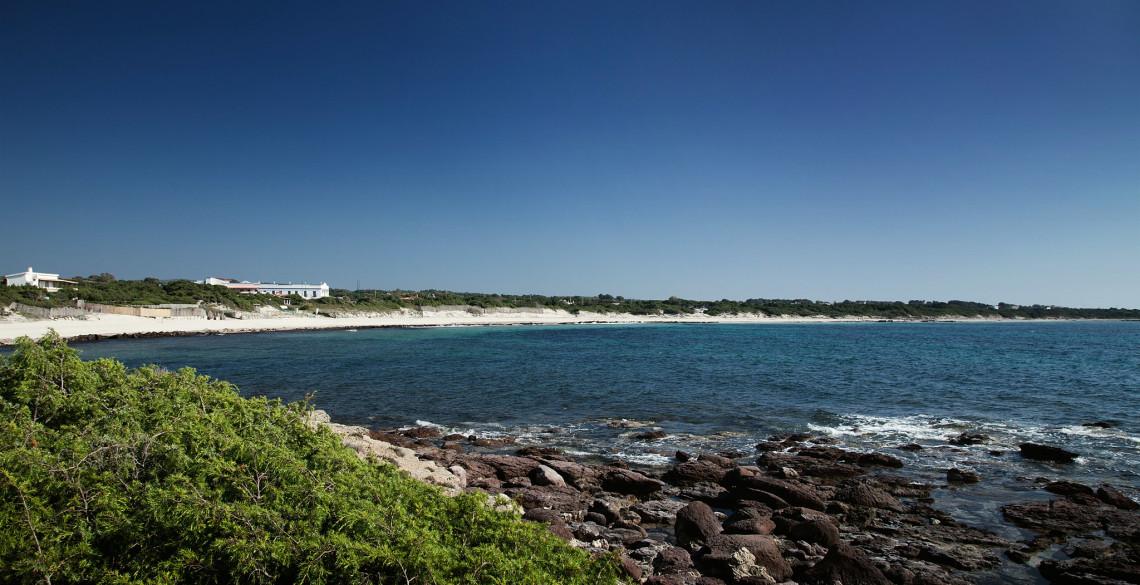 Spiaggia grande Calasetta, il panorama